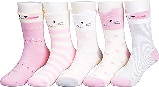Calcetines de niña 5 pares de calcetines de algodón para niños de 1 a 13 años
