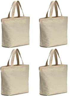 "Axe Sickle 4 per pack 12oz Canvas tote bag 16"" W X 16"" H X 4.6"" inch Bottom Gusset,Tote shopping bag,Washable grocery tote bag, Craft canvas bag."