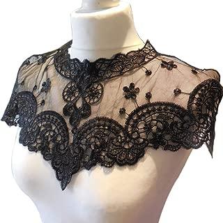 no brand Jubaren7 11CM Large Blanc Noir 3D en Dentelle pliss/ée en Mousseline de Soie /élastique Appliqu/é /à Volants Robe Ruban for v/êtement Couture Fringe D/écor Fournitures de Couture Bricolage