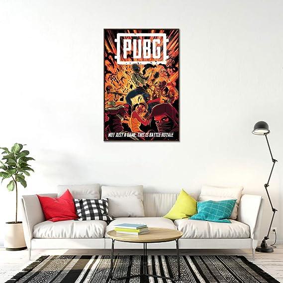PlayerUnknown/'s Battlegrounds PUBG Canvas Poster 8x8 24x24 inch