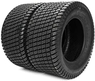 MOTOOS 2PC 24x12.00-12 6 Ply Lawn Mower Tractor Turf Tires Fit for Lawn Garden Mower P332