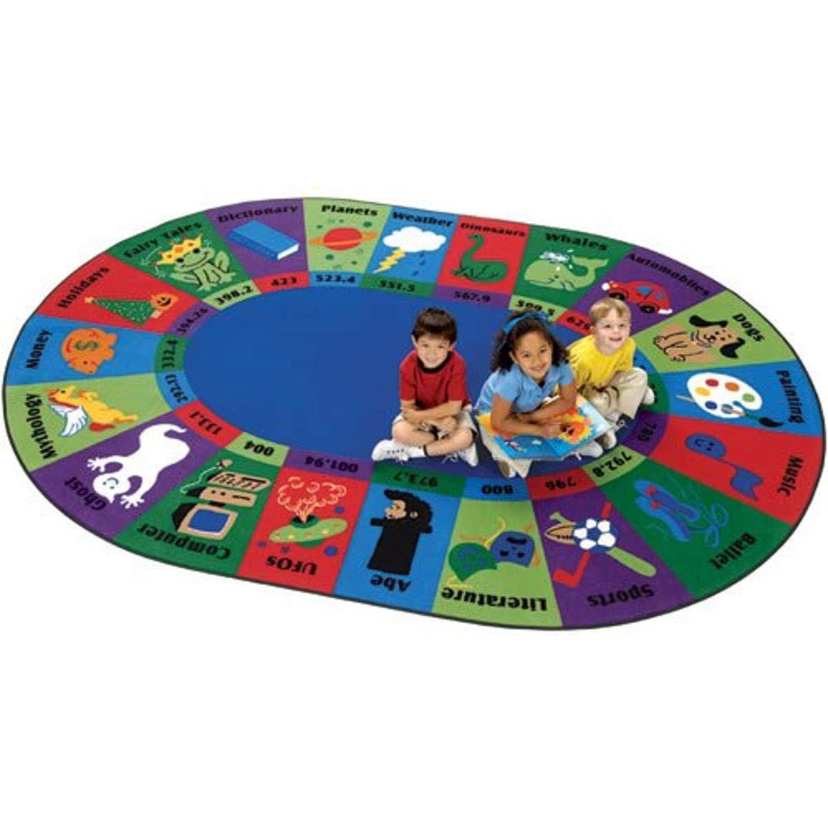 Carpets NEW before selling for Kids 5795 Circletime Fun Dewey Decimal Rug SALENEW very popular