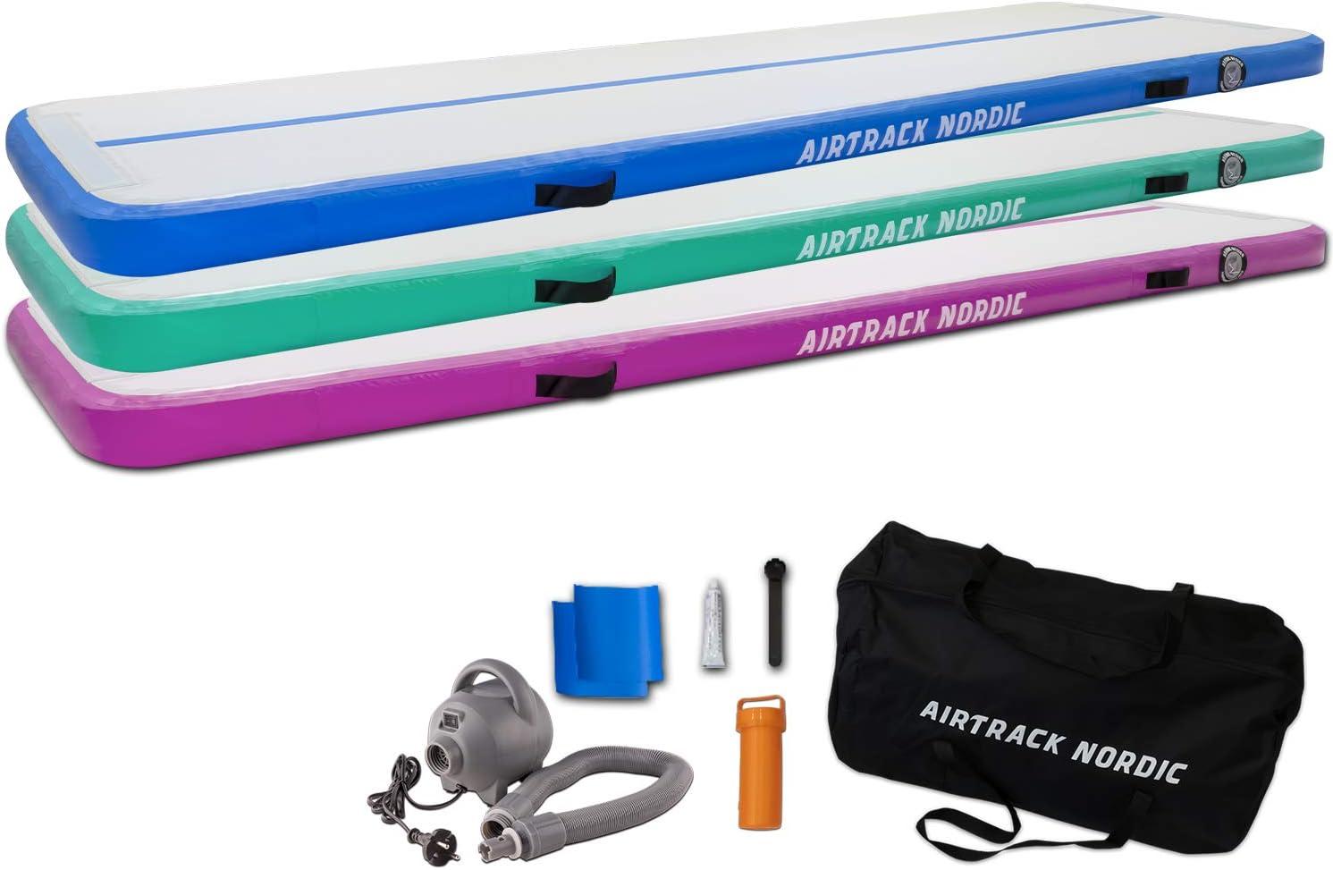 Air Track Ginnastica Gonfiabile Tumbling Mat Spessore Airtrack Mats con pompa di aria elettrica per la casa