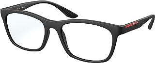 إطار نظارات رجالي من المطاط الأسود 53/18/145 من Prada Linea Rossa PRADA LINEA ROSSA VPS 02N