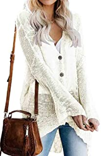 Women's Boho Oversized Cardigan Flare Sleeve V Neck Sweater Knitwear Loose Blouse