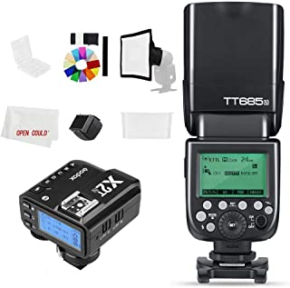 Godox Flash TT685N - Cámara flash para cámaras Nikon (2,4 GHz, HSS 1/8000s, GN60, Speedlite con X2T-N X2N (2,4 GHz)