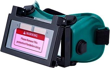 LESOLEIL Elektrische lasbril Helm - Li-Mi&Solar Aangedreven Automatische Lassersglazen DIN9-13 2 Sensoren Auto Verduistere...