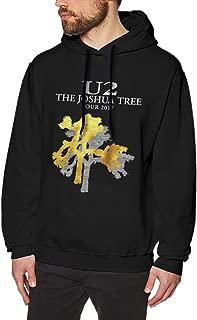 Men's Hoodie Sweatshirt U2 Joshua Tree Art Print Fashion Hoodie Black Sweatershirt