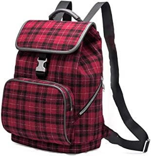 ZXGBJBB Portable Laptop Bag with one Shoulder and Good Looking Computer Bag, 12, 13, 13.3 Shoulder Computer Bag (Color : Plaid red, Size : 12 inches)