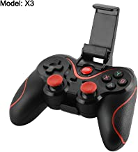 Bonega X3 Wireless BT Game Controller Joystick Gamepad with Phone Holder for Android iOS Smartphone Tablet PC TV Box Windows