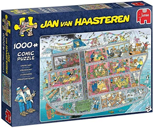 Jumbo- Jan Van Haasteren-Cruise Ship 1000 Piece Jigsaw Puzzle Puzle de Crucero Piezas (20021)