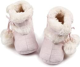 Gosear Botas de Navidad Baby Botas de Invierno Infantil Suave Suela Zapatos para 12-18 Meses Baby Oscuro Rosa