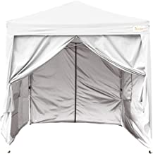 King BIRD10x10 ft Easy Pop up Canopy Waterproof Party Tent with 4 Removable Walls Mesh Windows & Carry Bag -White