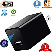Wi-Fi Spy Charger Camera Hidden Spy Camera USB Charger Wireless Mini Cam 720P HD Monitoring WiFi Surveillance for Home Office Security Camera Monitoring with Motion Detection Nanny Cam