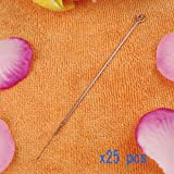 Generic 5 Rl Disposable Stainless Steel Tattoo Needles 5 Round Liner - 25 Pcs
