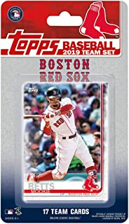 Boston Red Sox 2019 Topps Factory Sealed Limited Edition 17 Card Team Set with Dustin Pedroia and Mookie Betts Plus
