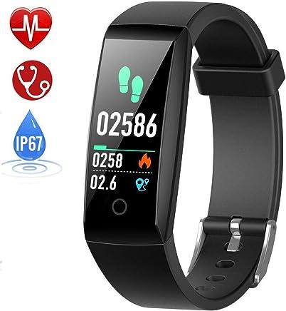 HETP Montre Connectée Cardiofréquencemètre Bracelet Connecté Podomètre GPS Fitness Tracker dActivité Tension Artérielle Smartwatch