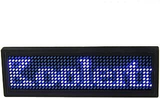 USB programable scrolling LED azul nombre Badge, Mini mensaje ID Nombre Etiqueta para negocios publicidad mensaje pantalla