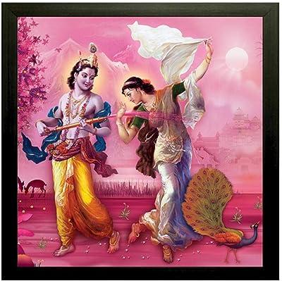 SAF Radha Krishna Digital Reprint 12 inch x 12 inch Painting () SANFAEX6692