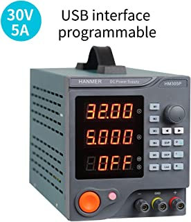 Programmable DC Power Supply (0-30 V 0-5 A) HM305P Variable Switching Digital Power Supply with PC Software and USB Interface