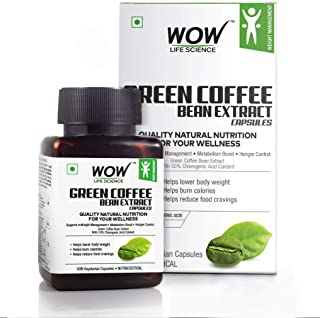 RR Group Wow Green Coffee Bean Extract Capsules - 60 Count