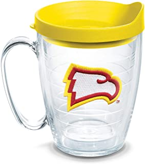 Tervis 1064991 Winthrop Eagles Logo Tumbler with Emblem and Yellow Lid 16oz Mug, Clear
