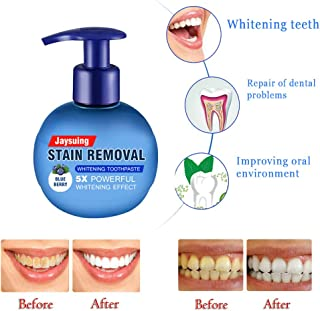 Firstfly Whitening Toothpaste, Baking Soda Natural Stain Removal Repairing Refreshing Tooth Toothpaste Blueberry Flavor 1pack