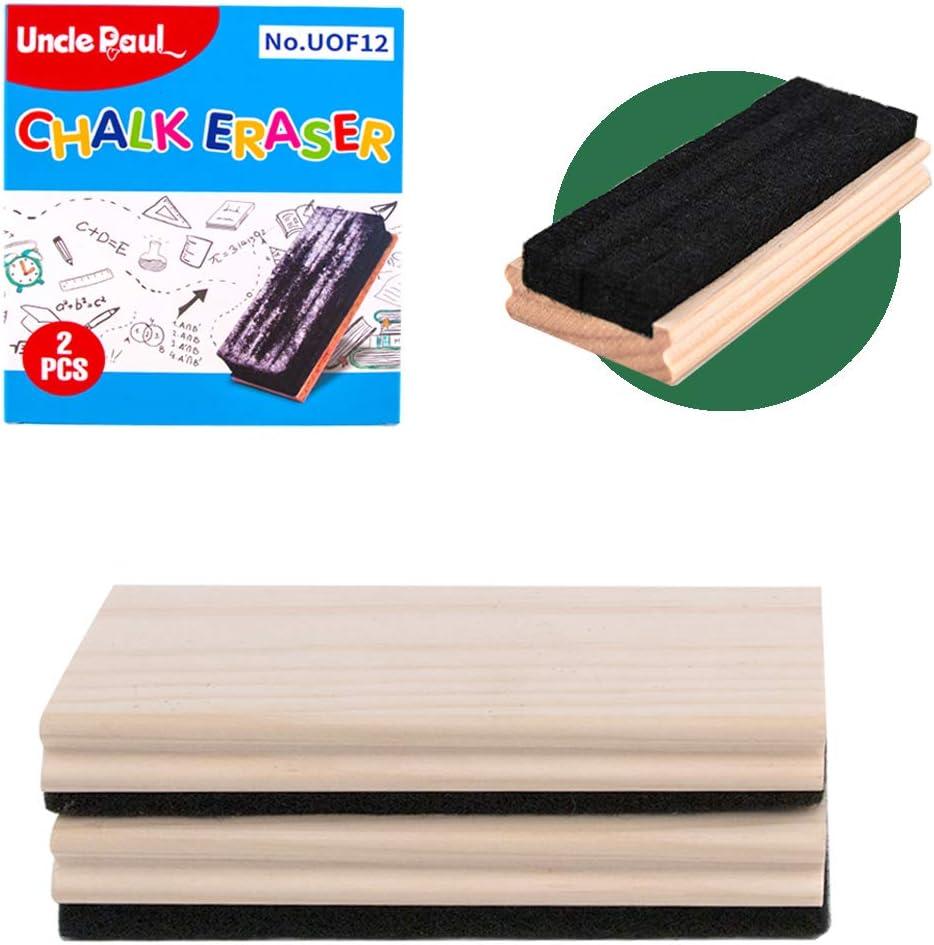 Chalkboard Eraser Max 85% OFF - 2 Dallas Mall PCS Pine Campus Style Cle Wood Felt