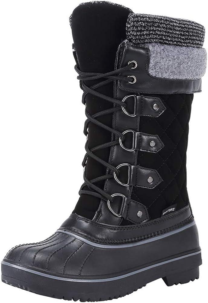 FANTURE Women's Winter Snow Boots Waterproof