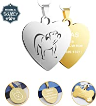 BGOOO Stainless Steel Dog Tag,Custom Engraved Dog Tags and Cat Tags,Personalized Engraved on Both Sides, Easy to Read,Incredibly Durable and Long Lasting Pet ID Tags