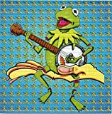 Kermit The Frog and Banjo Limited Edition by Brian Miller BLOTTER Art Psychedelic Print Perforated Sheet, Acid Free LSD Art Paper 30x30, 900 tabs, 7.5 inch, in Clear Protective Sleeve