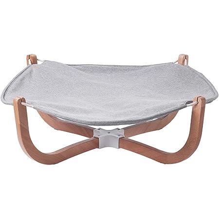pidan 猫 ハンモックベッド 猫 ベッド 洗える スタンド型 綿麻 木製