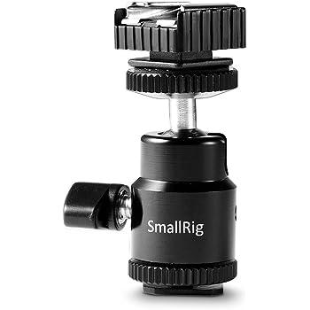 SMALLRIG 汎用液晶モニターアダプター(ホットシューと1/4メス付きのコールドシューベースが付き)Canon、Nikon、Olympus、Pentax、Panasonic、Fujifilm/Kodakに対応可能 カメラアクセサリ-1639 [並行輸入品]