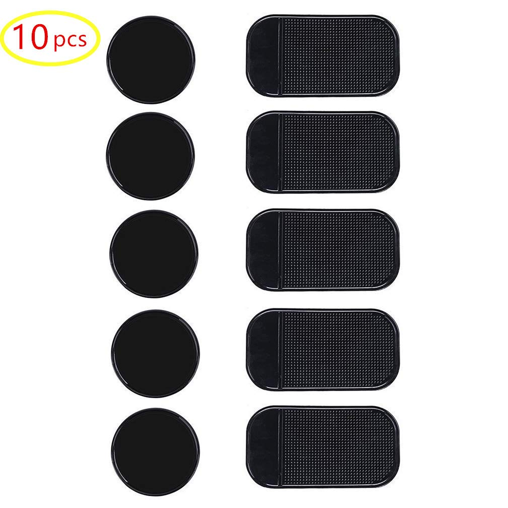 Sticky Anti-Slip Gel Pads for Car Dashboard Rubber Pad Sticky Gel Pad,2 pcs Silicone Car Pad Mat,Non Slip Pad Mats 2PACK