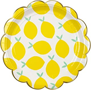 Meri Meri Lemon Large Plates