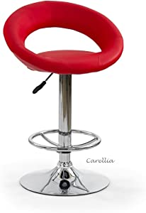 CARELLIA Barhocker 2-er Set Bar–Rot