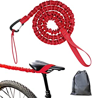 Bike Tow Rope, Flexible Nylon Kids Bike Tow Rope with Hooks, Elastic Bungee Rope Pull Bicycle Tow Rope, Specially Designed...