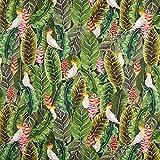 Fabulous Fabrics Halbpanama grün, Pflanze, 140cm breit