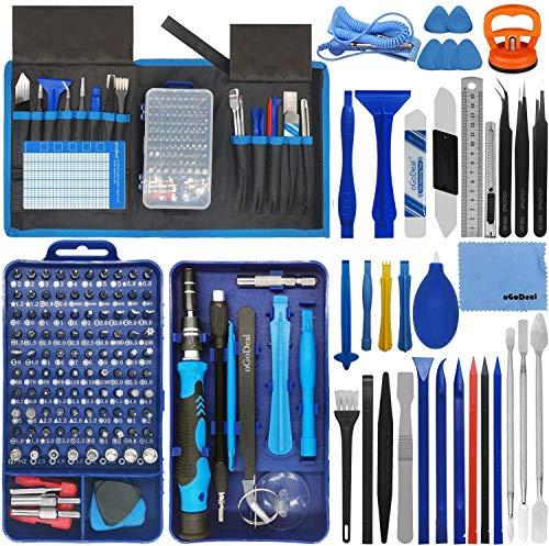 oGoDeal 155-in-1 Feinmechaniker Schraubendreher Werkzeug Set Reparaturwerkzeug für Computer, Brille, iPhone, Laptop, PC, Tablet, PS3, PS4, Xbox, Macbook, Kamera, Spielzeug(Blau)