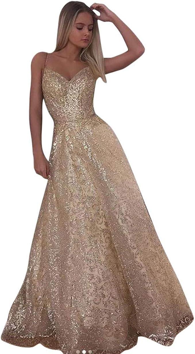 Amygline Kleider Damen Abendkleider Sexy Sling Ruckenfrei Hochzeitskleid Brautjungfer Brautkleid Lange Maxikleid Ballkleid Partykleid Prinzessin Kleid Amazon De Bekleidung