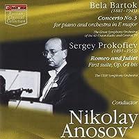 Bartok Piano Concerto No.3 (Tatiana Nikolayeva W.All-Union Radio Orch./ Anosov). Prokofiev 'Rom by VARIOUS ARTISTS (2000-07-28)