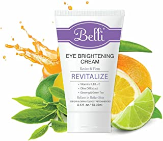Belli Skincare Eye Brightening Cream, Pregnancy Safe and Vegan Free (0.5 oz)