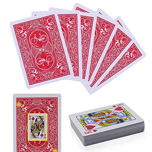 Cvery - Carte da gioco magiche segnate, per Adulti 1 set Rosso