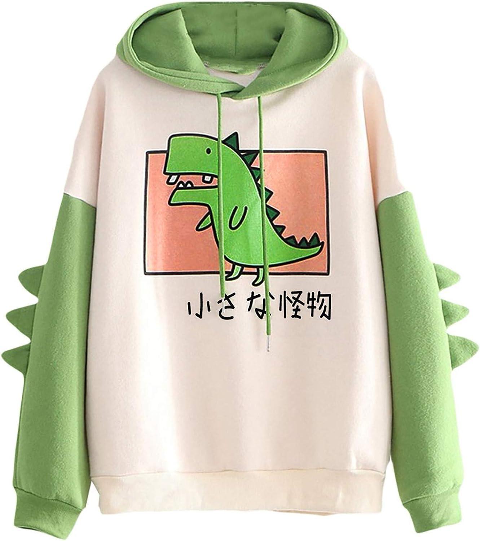 Hoodies for Women,Teen Girls Cute Graphic Printed Long Sleeve Drawstring Pullover Sweatshirt Casual Hoodie Tops