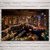 Amrzxz 1000 Piezas de Juguetes educativos, Hermosa Vista Nocturna de Dubai, Juguetes de Ejercicio de Pensamiento lógico de 75x50 cm, Regalo del día de la Madre