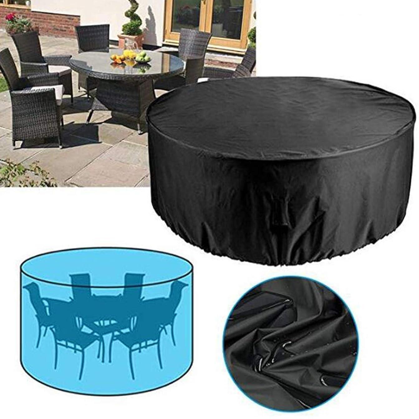 ケーキテントシフトJIANFEI ガーデン屋外カバーテーブル円形 中庭のテーブルと椅子 防水 オックスフォード生地 耐摩耗性 、22サイズ 、注文のサイズを支えて下さい (Color : Black, Size : 140x90cm)