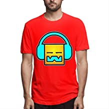 Welikee Camiseta, Manga Corta, Men's Geometry Dash Casual Style Print T-Shirt Short Sleeve