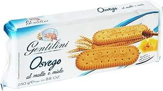 Gentilini Osvego Italian Honey Biscuit Cookies   250 Gram   8.8 Ounce   Pack of 8