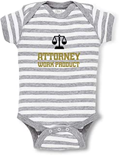 Cute Rascals Attorney Work Product Short Sleeve Boys-Girls Cotton Baby Bodysuit One Piece