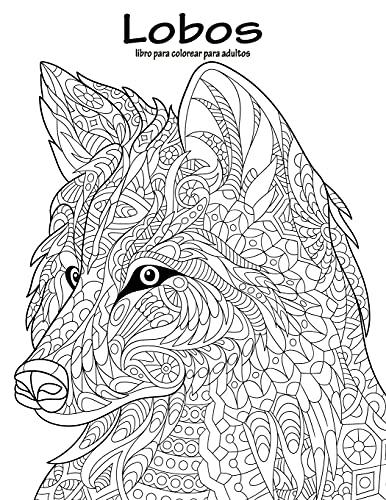 Lobos libro para colorear para adultos 1
